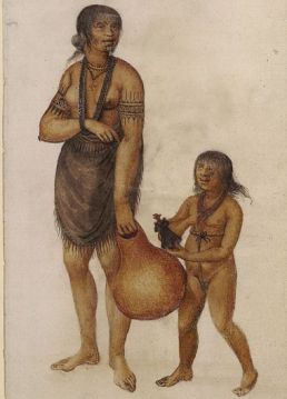 NA woman with child